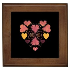 Love Collage Framed Ceramic Tile