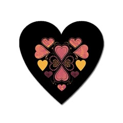 Love Collage Magnet (Heart)