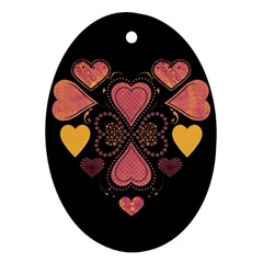 Love Collage Oval Ornament (two Sides)