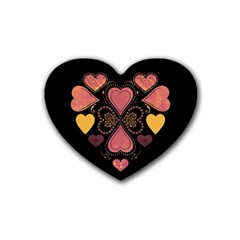 Love Collage Drink Coasters (Heart)