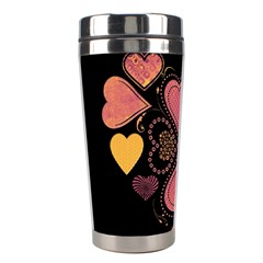 Love Collage Stainless Steel Travel Tumbler