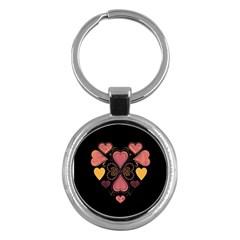 Love Collage Key Chain (round)