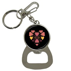 Love Collage Bottle Opener Key Chain