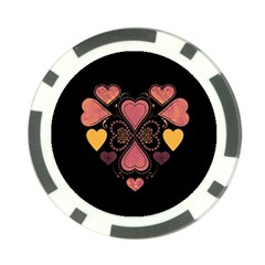 Love Collage Poker Chip (10 Pack)