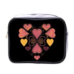 Love Collage Mini Travel Toiletry Bag (one Side)