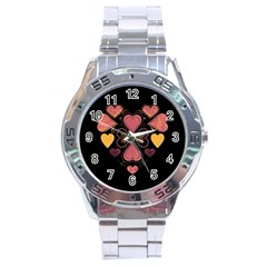 Love Collage Stainless Steel Watch