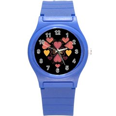 Love Collage Plastic Sport Watch (small)