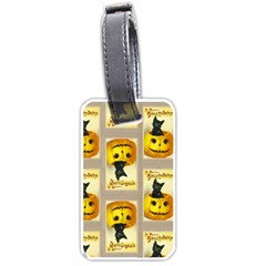 A Merry Hallowe en Luggage Tag (Two Sides)