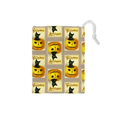 A Merry Hallowe en Drawstring Pouch (Small)