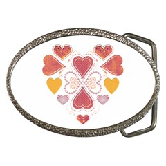 Love Collage Belt Buckle (oval)