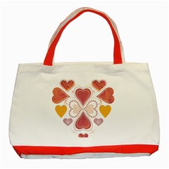 Love Collage Classic Tote Bag (red)