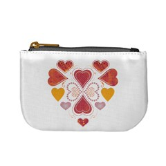 Love Collage Coin Change Purse
