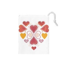 Love Collage Drawstring Pouch (Small)