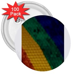 Rainbow 3  Button (100 Pack)