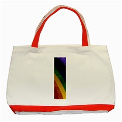 Rainbow Classic Tote Bag (red)