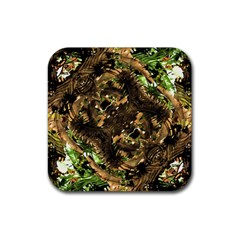 Artificial Tribal Jungle Print Drink Coasters 4 Pack (square)