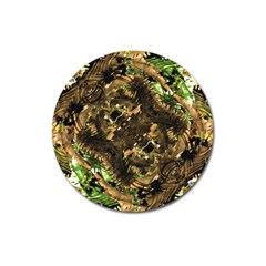 Artificial Tribal Jungle Print Magnet 3  (Round)