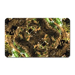 Artificial Tribal Jungle Print Magnet (rectangular)