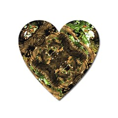 Artificial Tribal Jungle Print Magnet (heart)