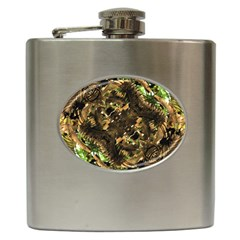 Artificial Tribal Jungle Print Hip Flask