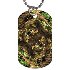Artificial Tribal Jungle Print Dog Tag (two Sided)