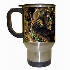 Artificial Tribal Jungle Print Travel Mug (white)
