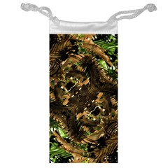 Artificial Tribal Jungle Print Jewelry Bag