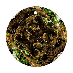 Artificial Tribal Jungle Print Round Ornament (Two Sides)