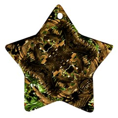 Artificial Tribal Jungle Print Star Ornament (Two Sides)