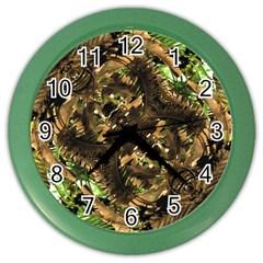 Artificial Tribal Jungle Print Wall Clock (Color)