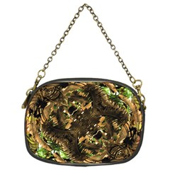 Artificial Tribal Jungle Print Chain Purse (two Sided)