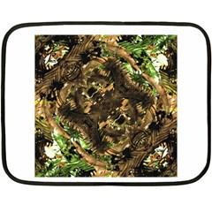 Artificial Tribal Jungle Print Mini Fleece Blanket (Two Sided)