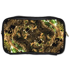 Artificial Tribal Jungle Print Travel Toiletry Bag (two Sides)