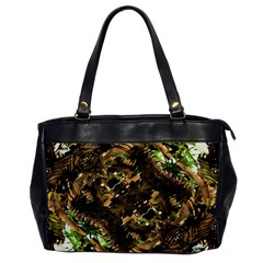 Artificial Tribal Jungle Print Oversize Office Handbag (one Side)