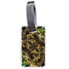 Artificial Tribal Jungle Print Luggage Tag (One Side)