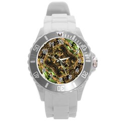 Artificial Tribal Jungle Print Plastic Sport Watch (large)