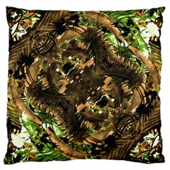 Artificial Tribal Jungle Print Large Cushion Case (Two Sided)