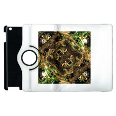 Artificial Tribal Jungle Print Apple iPad 2 Flip 360 Case
