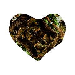Artificial Tribal Jungle Print 16  Premium Heart Shape Cushion