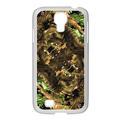 Artificial Tribal Jungle Print Samsung Galaxy S4 I9500/ I9505 Case (white)