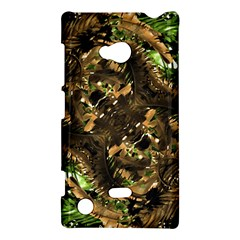 Artificial Tribal Jungle Print Nokia Lumia 720 Hardshell Case