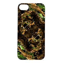 Artificial Tribal Jungle Print Apple iPhone 5S Hardshell Case