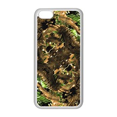 Artificial Tribal Jungle Print Apple iPhone 5C Seamless Case (White)