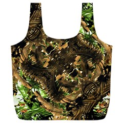 Artificial Tribal Jungle Print Reusable Bag (XL)
