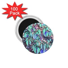 Colored Pencil Tree Leaves Drawing 1 75  Button Magnet (100 Pack)