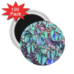 Colored Pencil Tree Leaves Drawing 2 25  Button Magnet (100 Pack)
