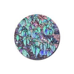 Colored Pencil Tree Leaves Drawing Drink Coaster (Round)