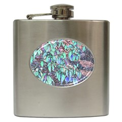 Colored Pencil Tree Leaves Drawing Hip Flask