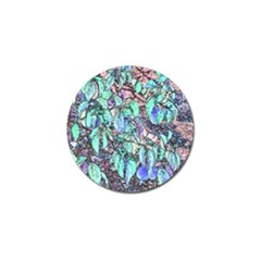 Colored Pencil Tree Leaves Drawing Golf Ball Marker 4 Pack