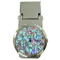 Colored Pencil Tree Leaves Drawing Money Clip With Watch